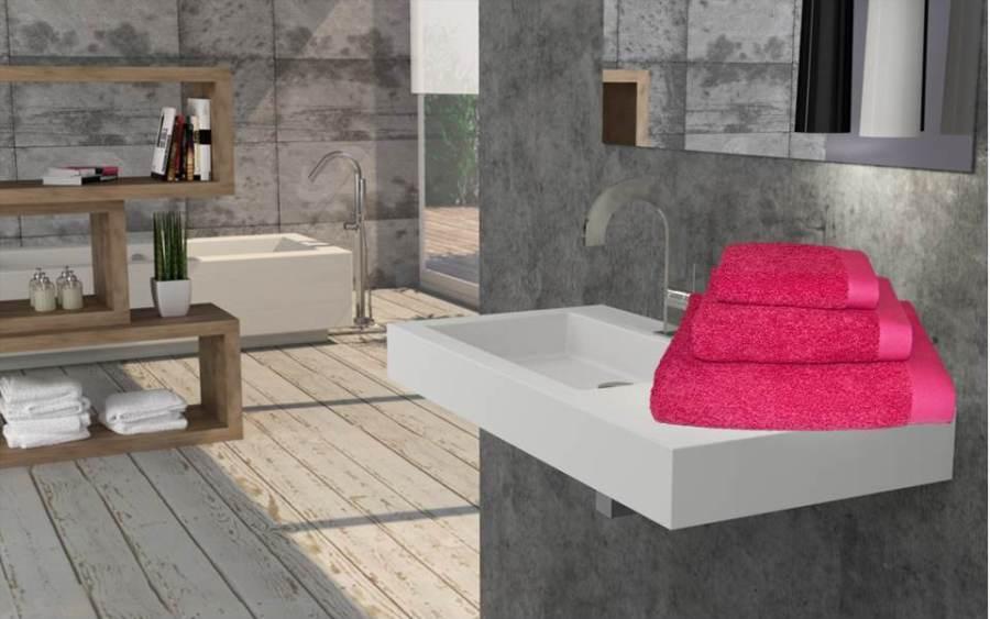 Juego toallas fucsia - Villalba Interiorismo (2)