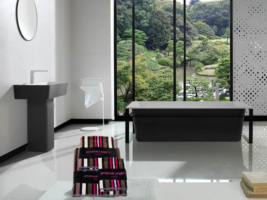 Juego toallas fucsia - Villalba Interiorismo