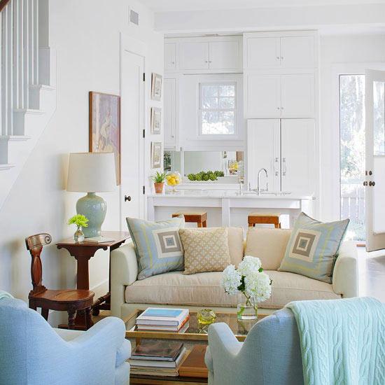 Salón en azul - Villalba Interiorismo