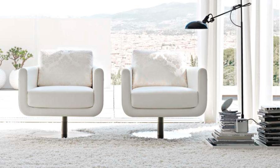 Sillones blanco - Villalba Interiorismo