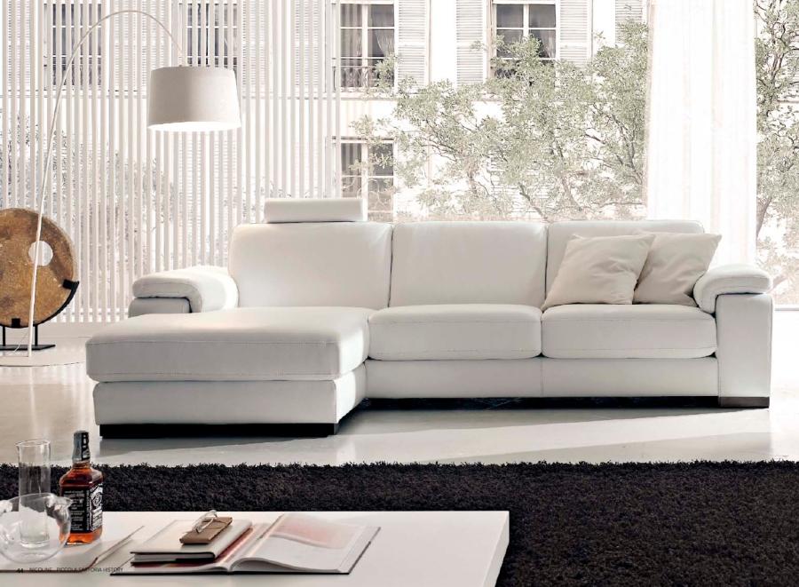 Sofá blanco - Villalba Interiorismo