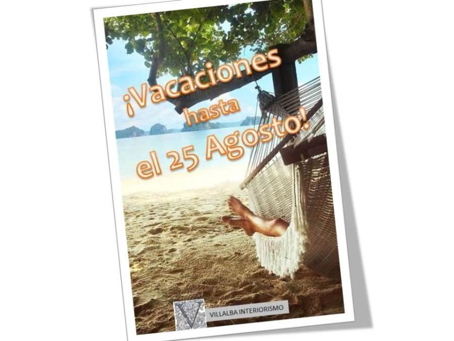Vacaciones - Villalba Interiorismo