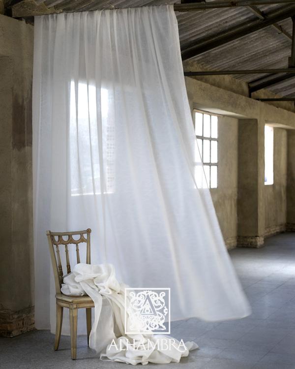 Visillo blanco - Villalba Interiorismo