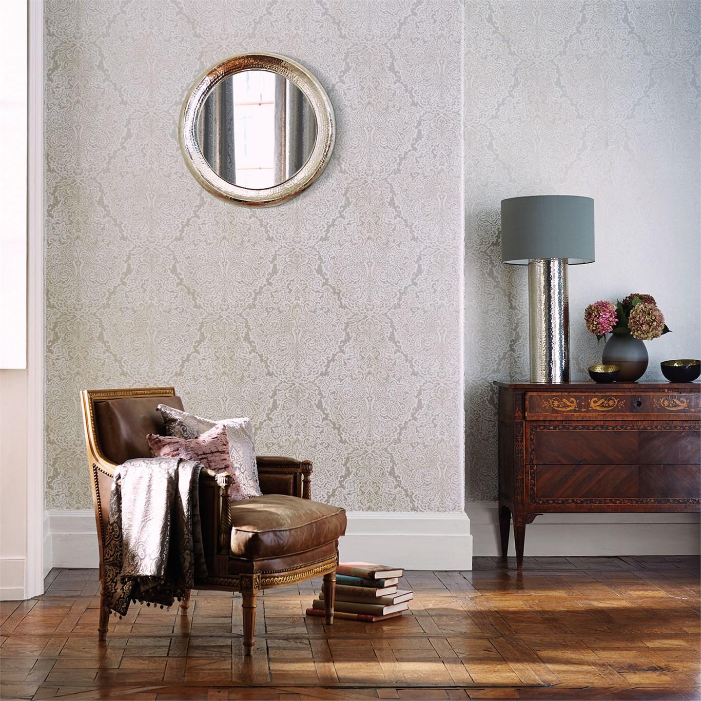 5 preciosos papeles pintados con textura metalizada villalba interiorismo - Papel pintado para recibidores ...
