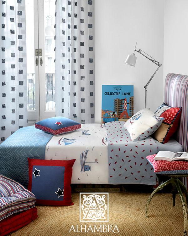 Cojines habitación chicos - Villalba Interiorismo