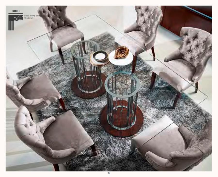 Mesa de cristal elegante - Villalba Interiorismo
