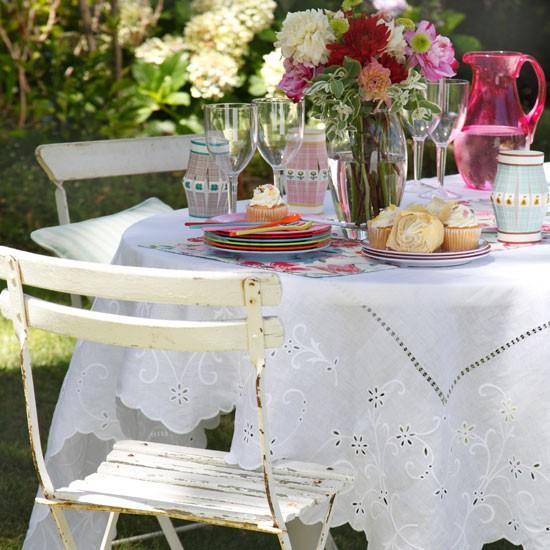 Mesa vestida para el exterior - Villalba Interiorismo