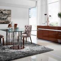 Un mueble de comedor moderno y elegante