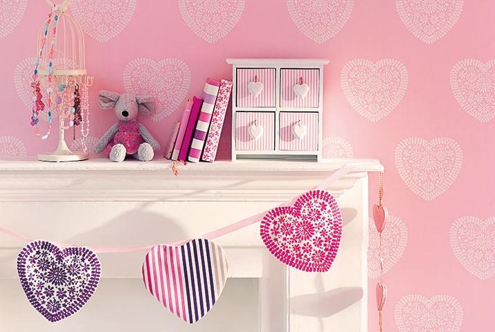 Papel pintado para habitaciones de niñas - Villalba Interiorismo (2)