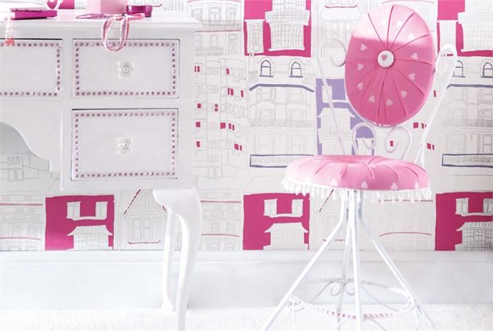 Papel pintado para habitaciones de niñas - Villalba Interiorismo (7)