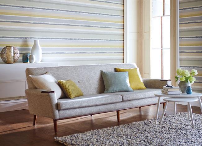 C mo decorar para ganar espacio villalba interiorismo - Papel pintado rayas horizontales ...
