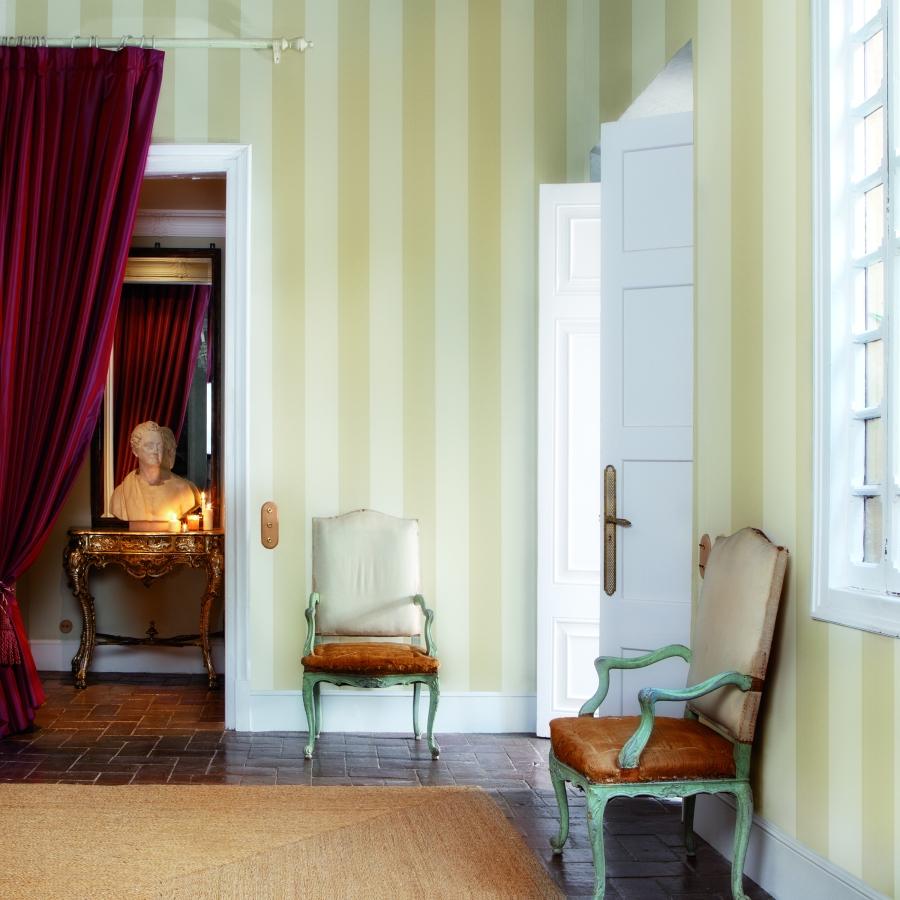 Papel pintado rayas - Villalba Interiorismo