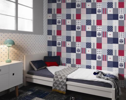 Ideas en rojo para habitaciones de ni os villalba - Papel pintado para paredes ninos ...