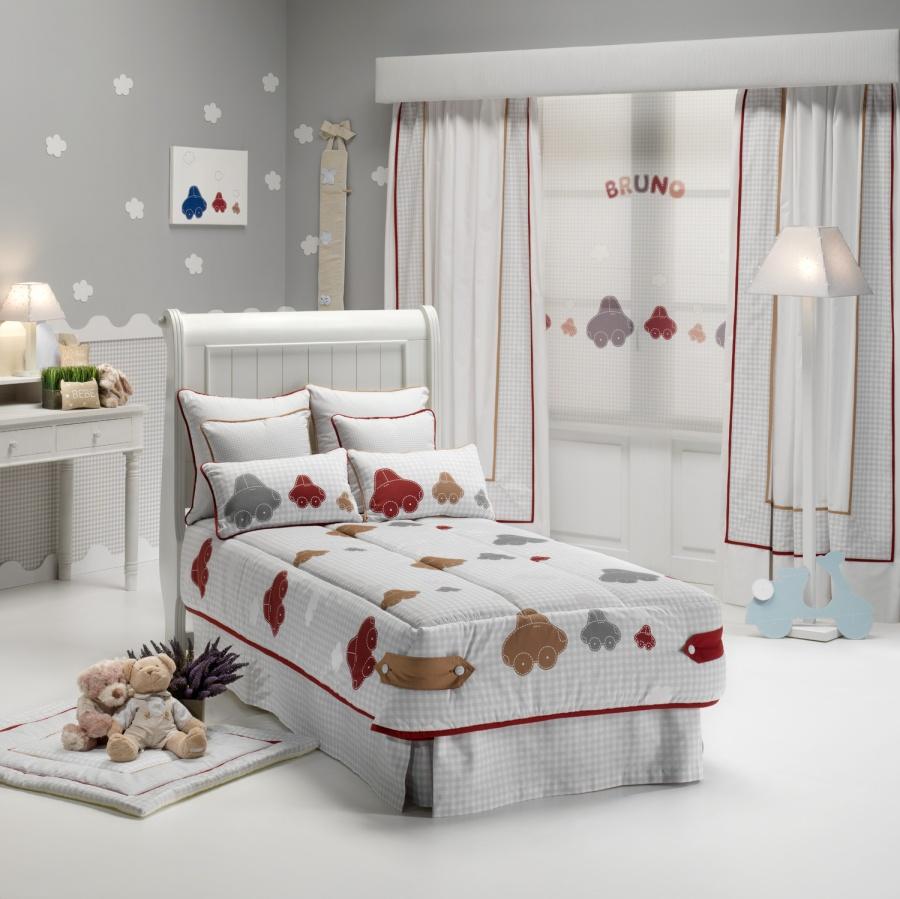 Plegable y dobles cortinas habitación chicos - Villalba Interiorismo