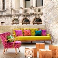 4 Atrevidas combinaciones de tapicerías de sillones y cojines