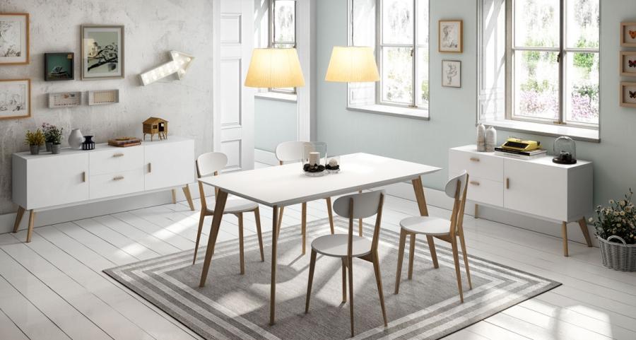 Comedor estilo nórdico - Villalba Interiorismo