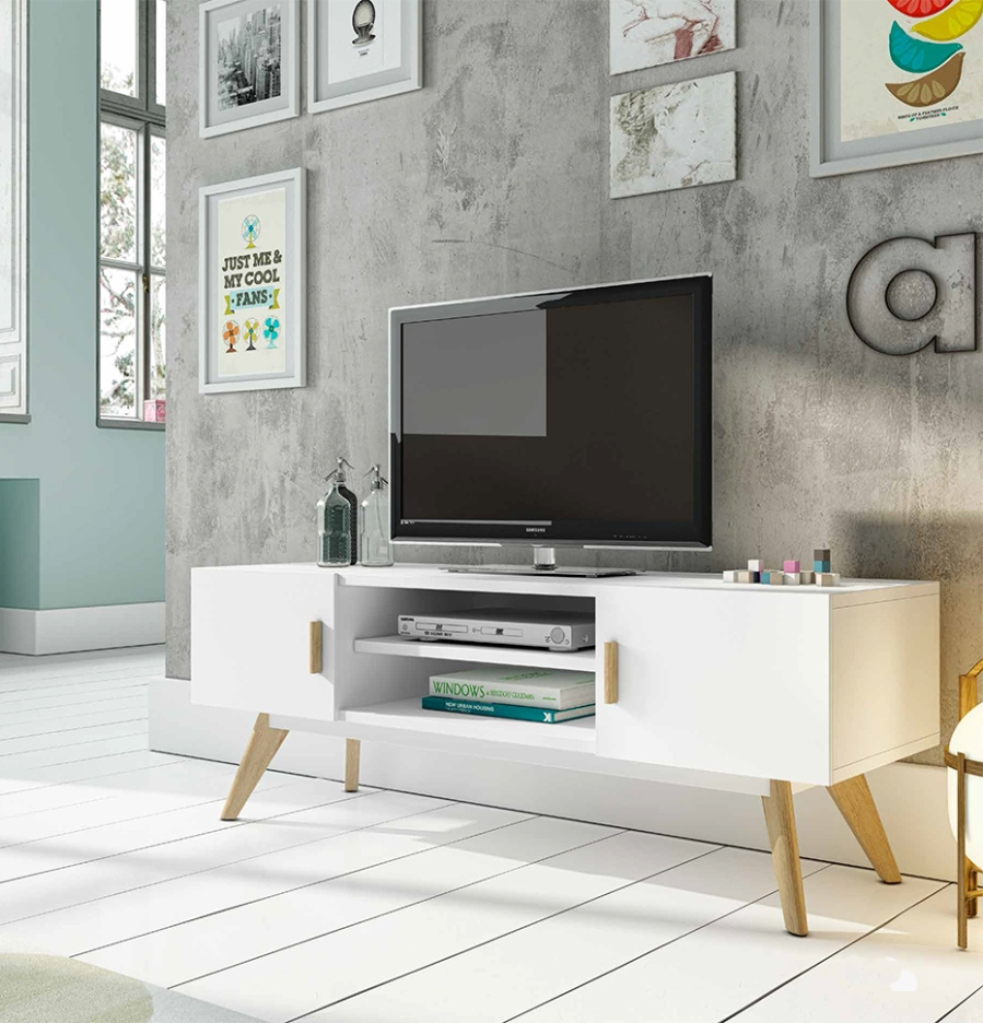 Mueble TV estilo nórdico - Villalba Interiorismo