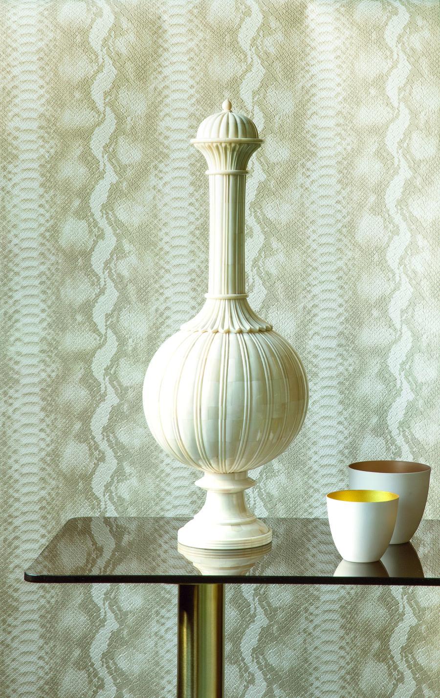 Papel pintado textura pitón - Villalba Interiorismo
