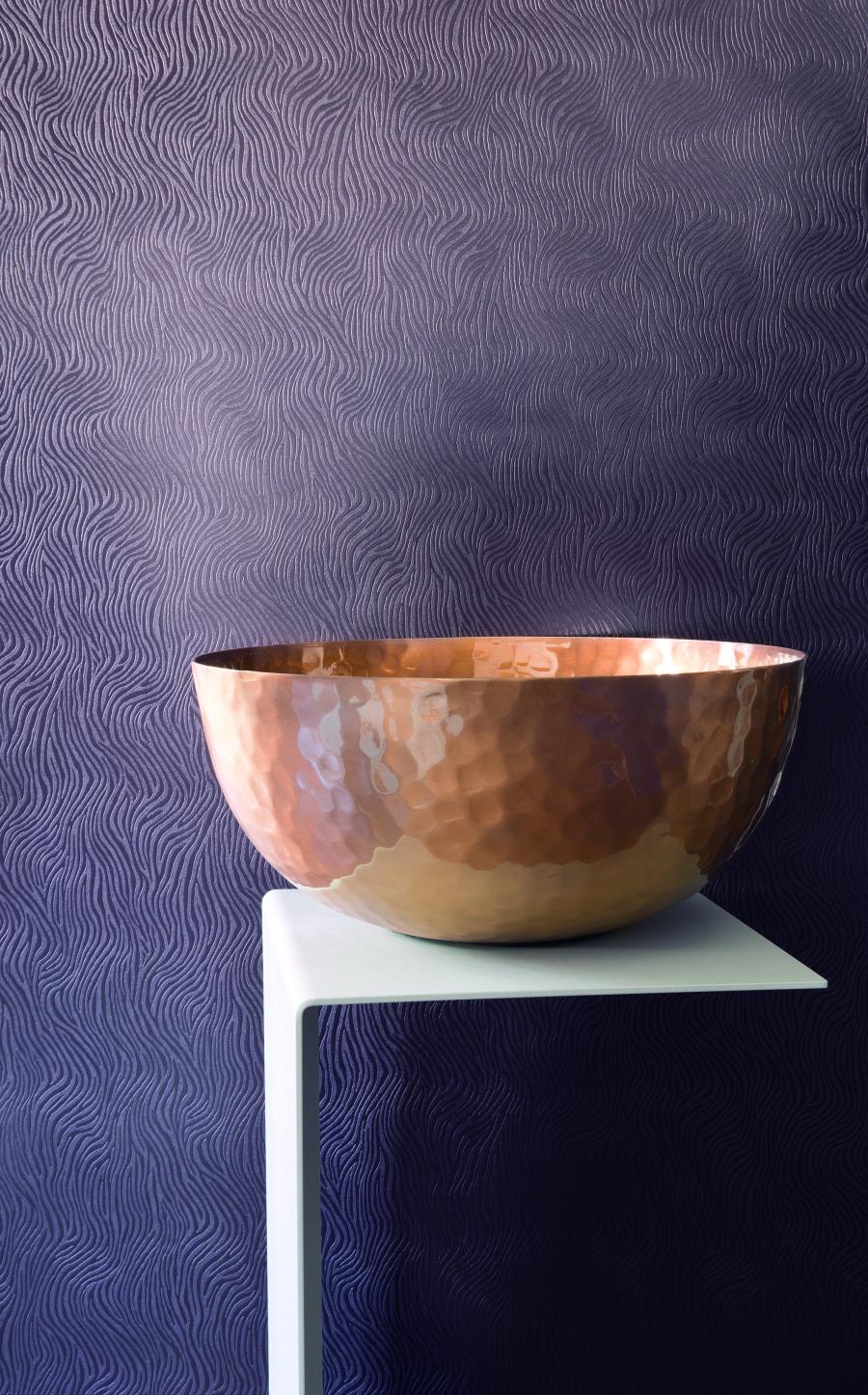Papel pintado textura repujado a ondas - Villalba Interiorismo