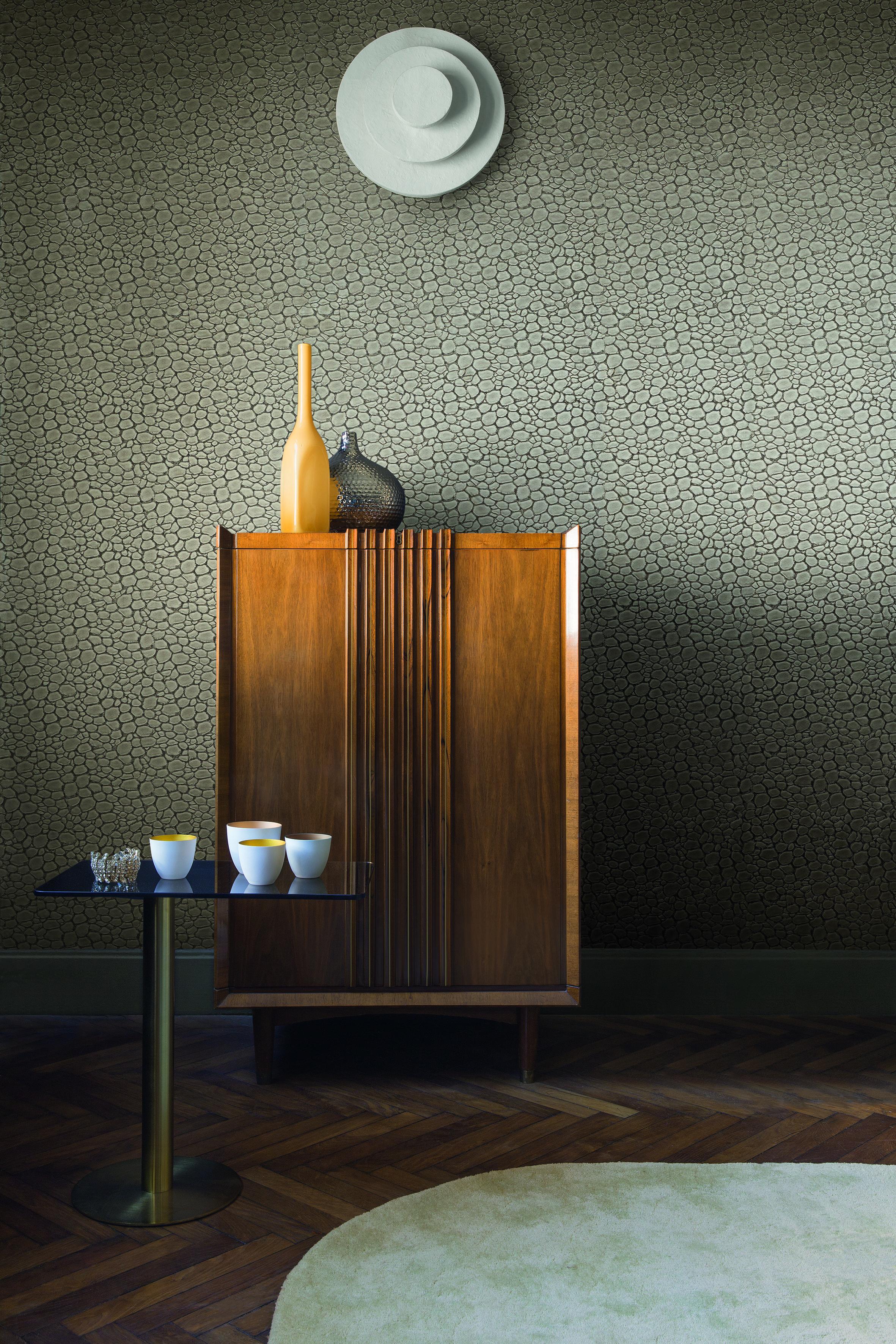 Papeles Pintados Con Textura De Piel Villalba Interiorismo