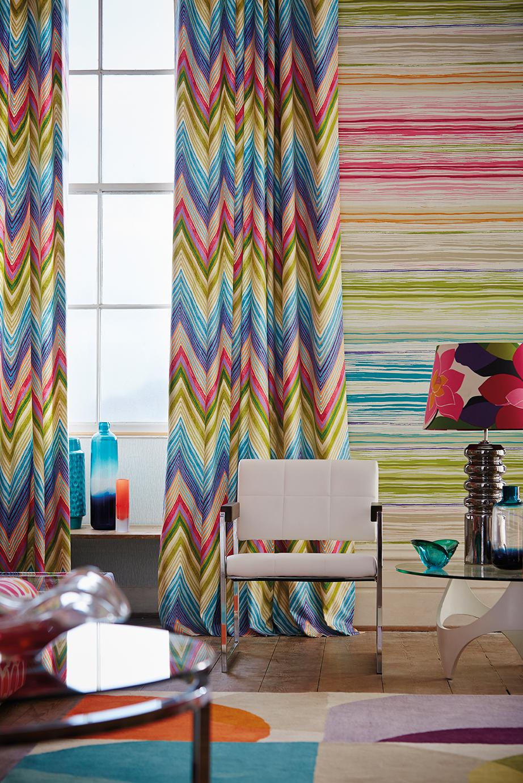 Modernas y divertidas telas con aire n rdico villalba for Cortinas estampadas modernas