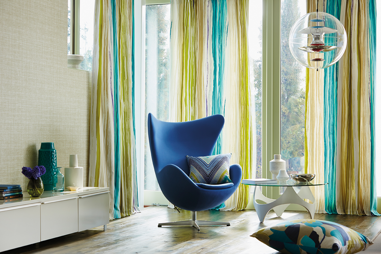 Modernas y divertidas telas con aire n rdico villalba for Telas cortinas salon diseno