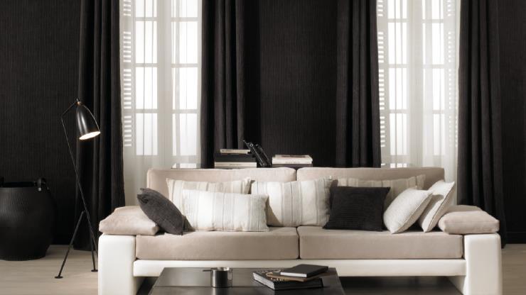 Dobles cortinas en salón - Villalba Interiorismo (4)