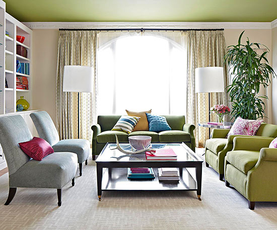 ceiling colors for living room dobles cortinas para conseguir ambientes elegantes 21021