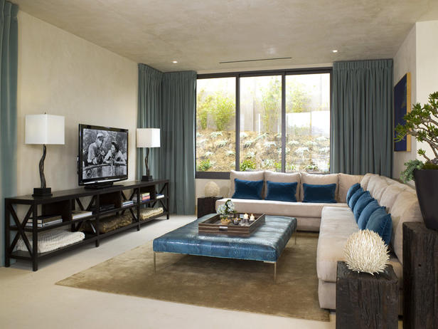 Dobles cortinas en salón - Villalba Interiorismo