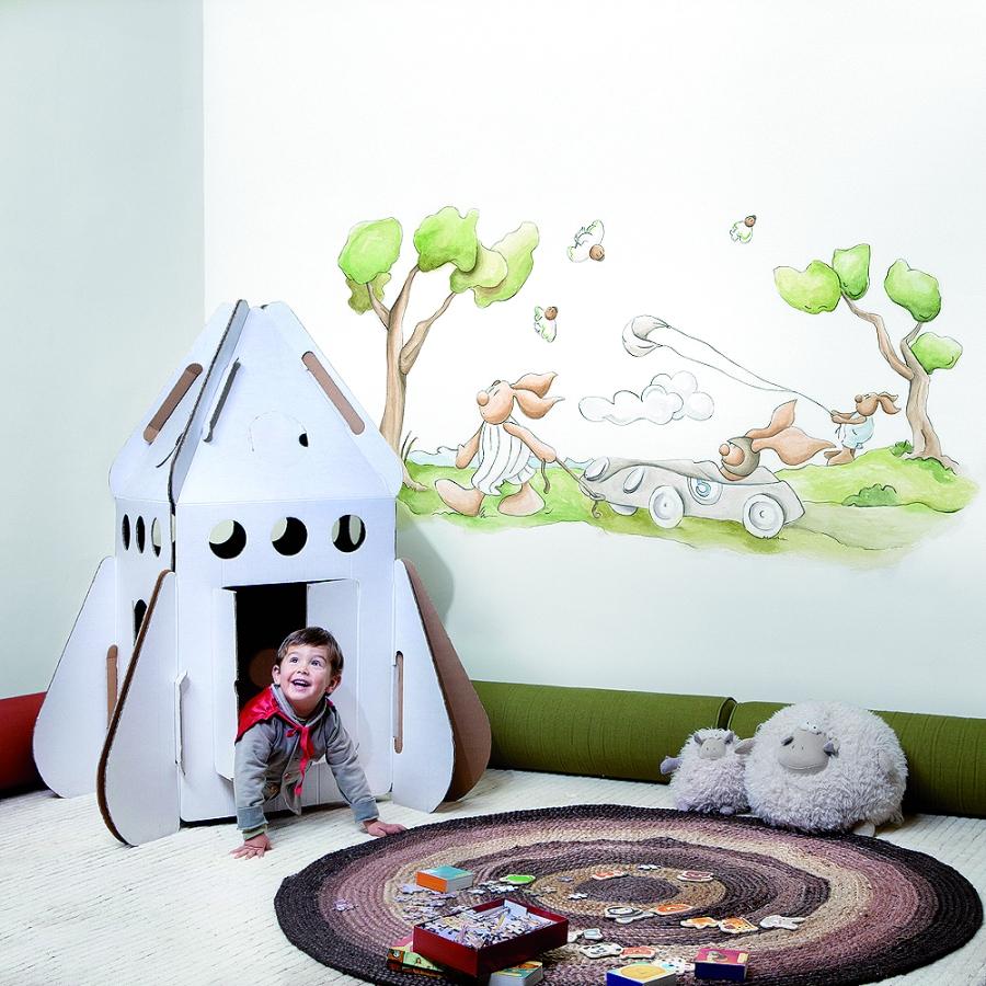 Mural de Coordonné para niños - Villalba Interiorismo