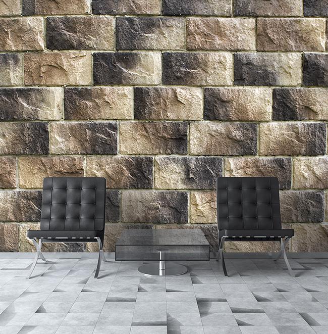 Papeles pintados piedras naturales - Villalba Interiorismo