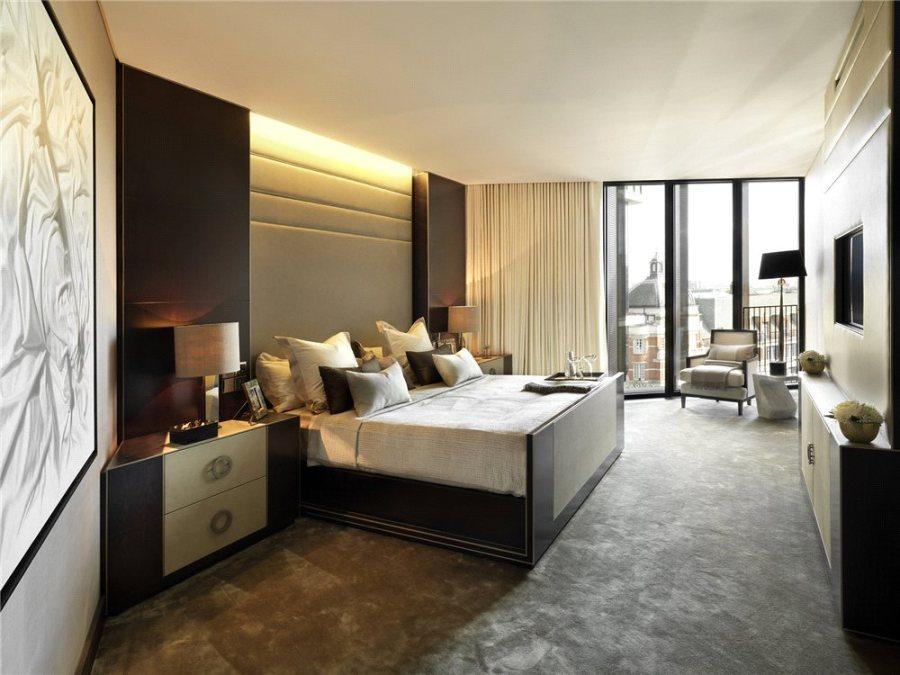 Dormitorio de lujo con textiles - Villalba Interiorismo (4)
