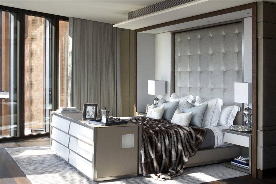 Dormitorio de lujo con textiles - Villalba Interiorismo (5)