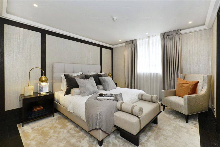 Dormitorio de lujo con textiles - Villalba Interiorismo (6)