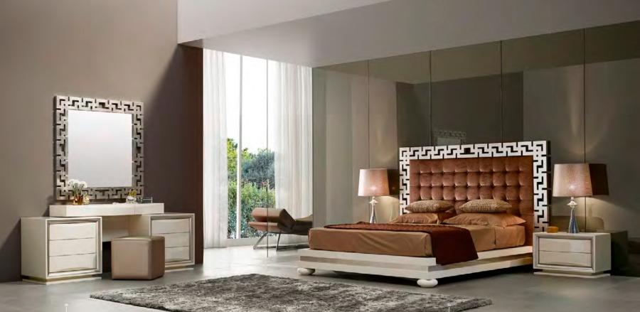 Dormitorio de lujo con textiles - Villalba Interiorismo (7)