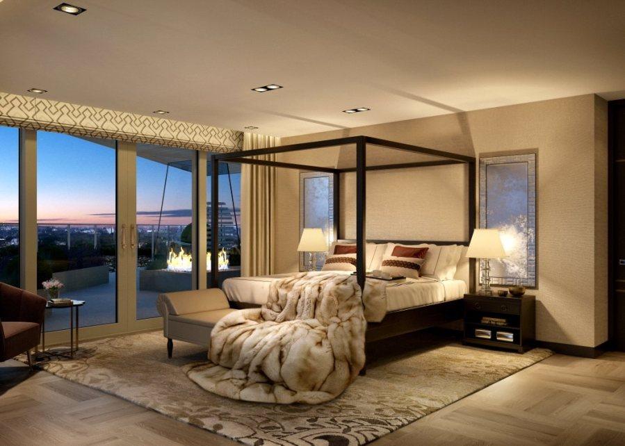 Dormitorio de lujo con textiles - Villalba Interiorismo