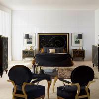 Glamour en muebles negros con toques dorados