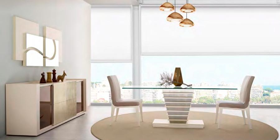 Mesa comedor de cristal moderna - Villalba Interiorismo (2)