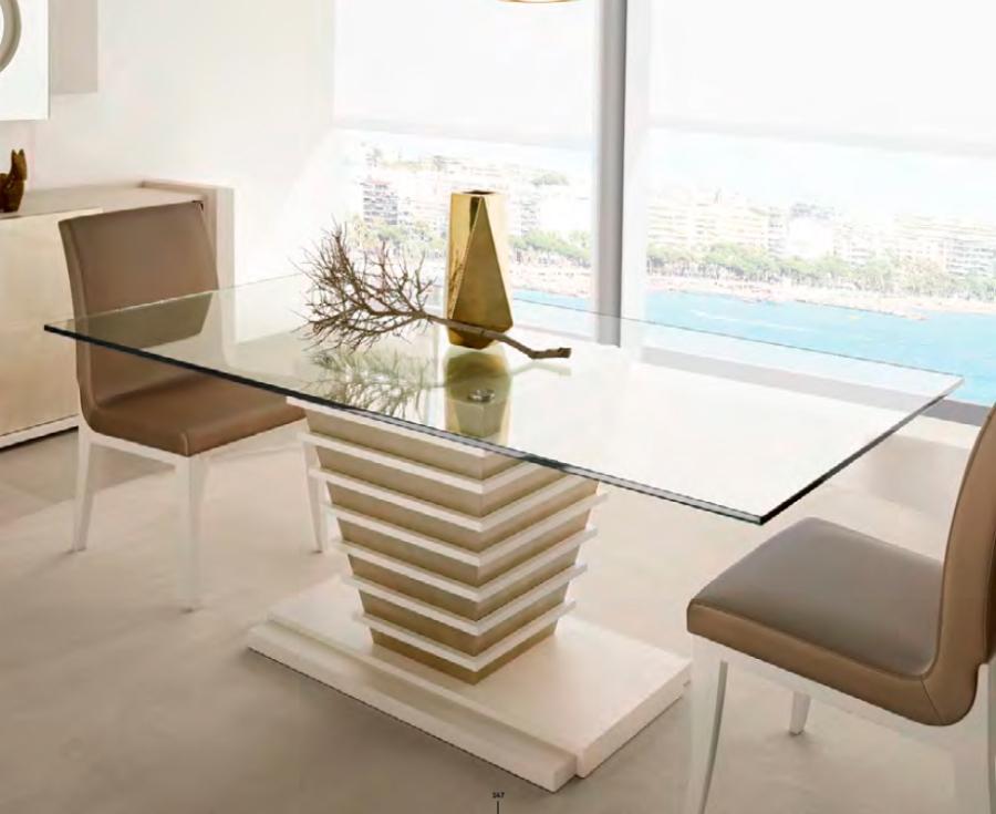 Mesa comedor de cristal moderna - Villalba Interiorismo (3)