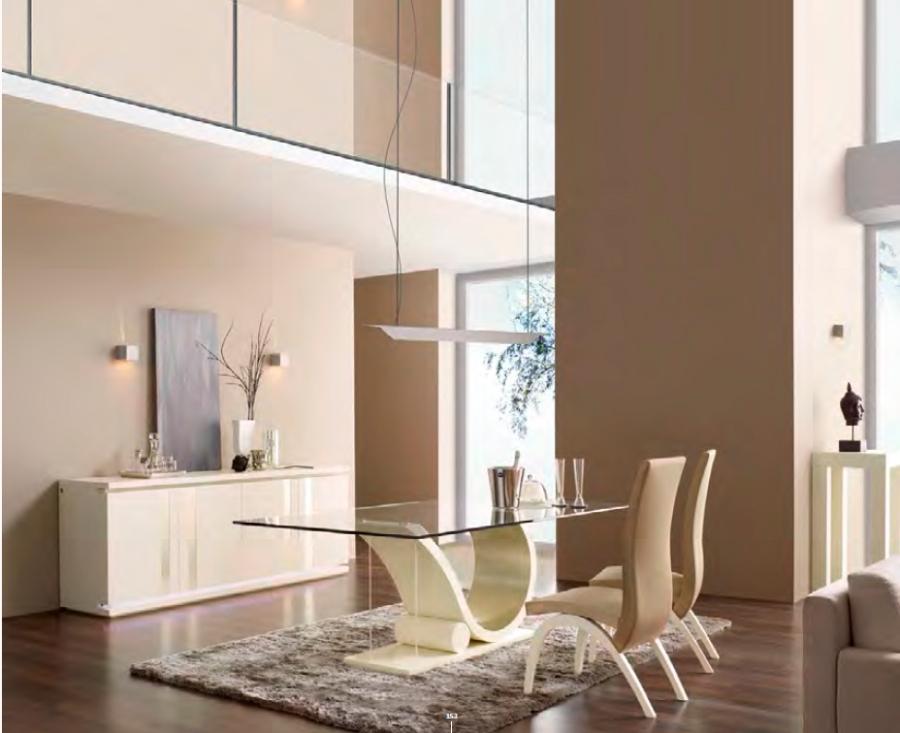 Mesa comedor de cristal moderna - Villalba Interiorismo (4)