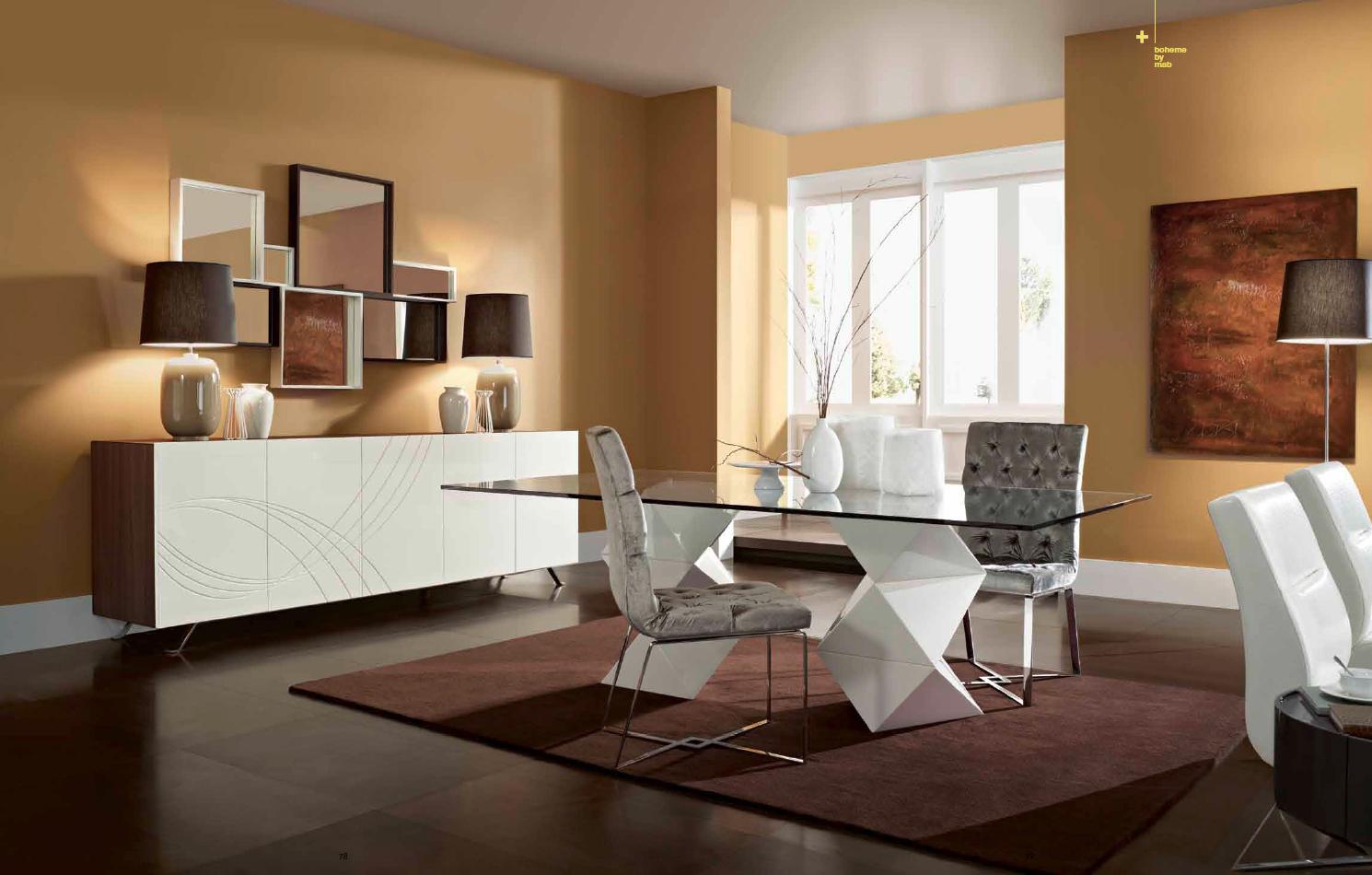 7 mesas modernas de cristal protagonistas del comedor for Comedor blanco y madera