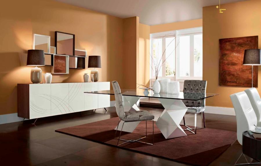 Mesa comedor de cristal moderna - Villalba Interiorismo (5)