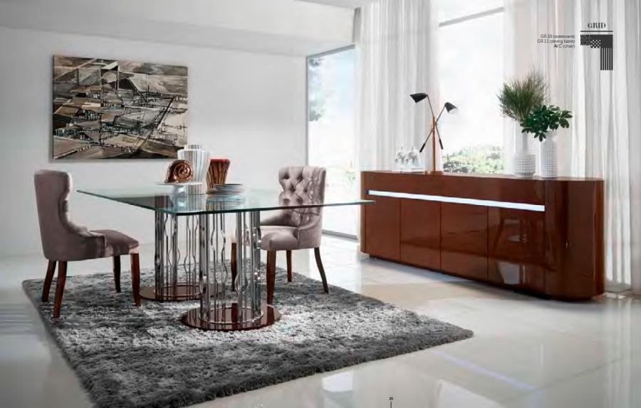 Mesa comedor de cristal moderna - Villalba Interiorismo (7)