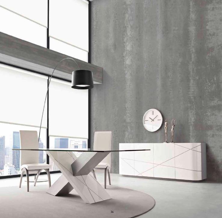 Mesa copmedor de cristal moderna - Villalba Interiorismo