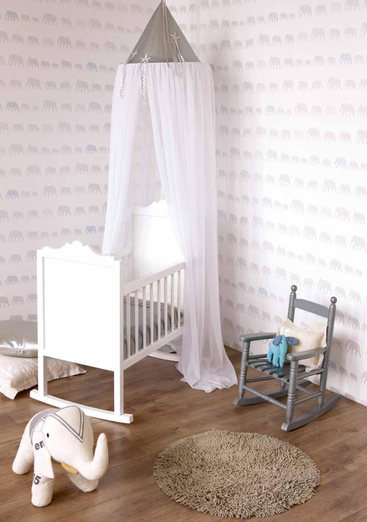 Papel pintado habitación bebé - Villalba Interiorismo