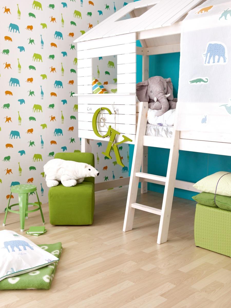 Papel pintado habitación niños - Villalba Interiorismo