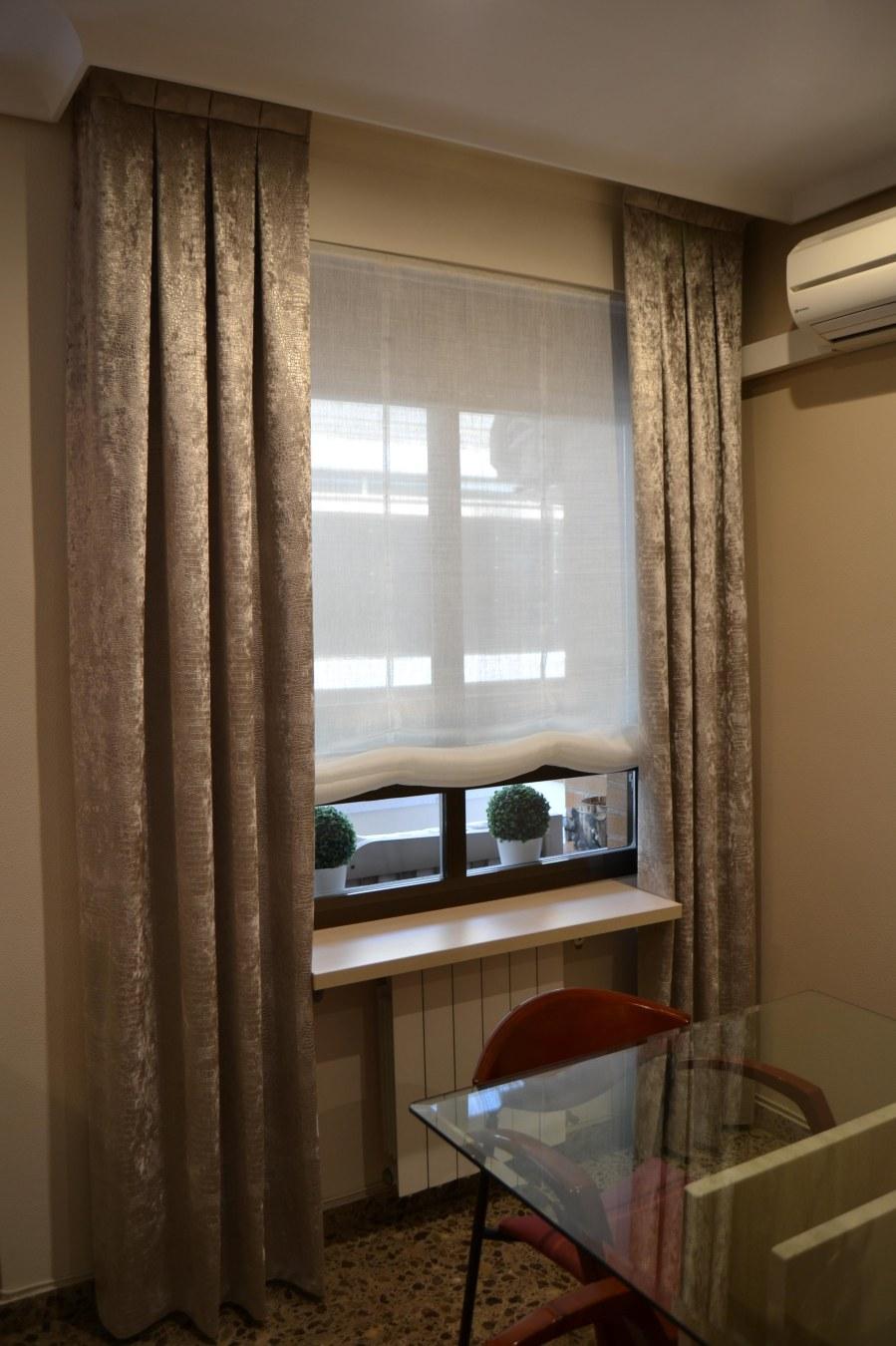 Estor y dobles cortinas - Villalba Interiorismo (2)