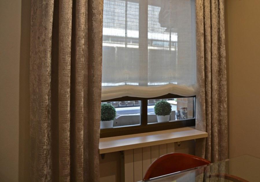Estor y dobles cortinas - Villalba Interiorismo