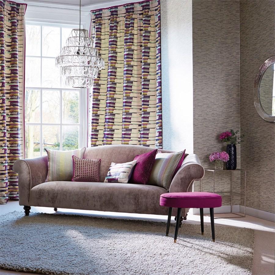 salón con dobles cortinas - Villalba Interiorismo