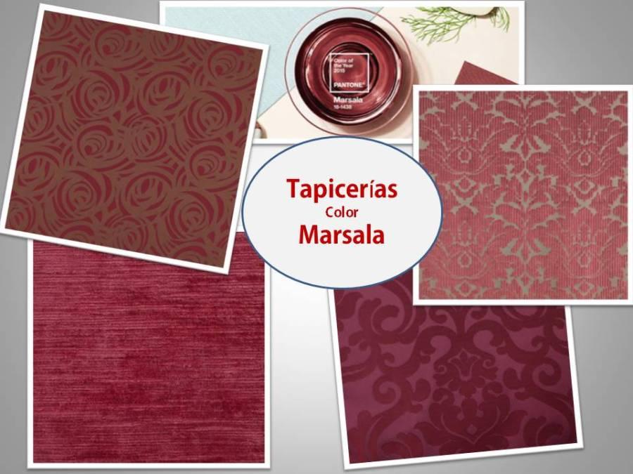 Tapicerías color Marsala - Villalba Interiorismo